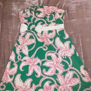 "Lilly Pulitzer ""Twinkle Starfish"" Strapless Dress"